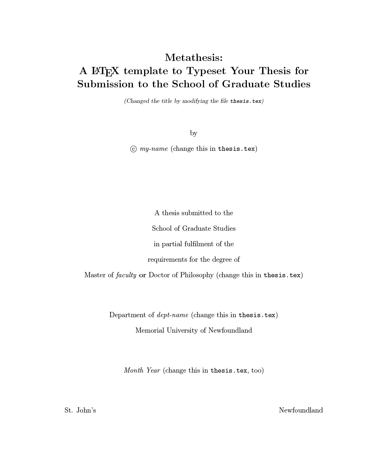 carleton university thesis template latex