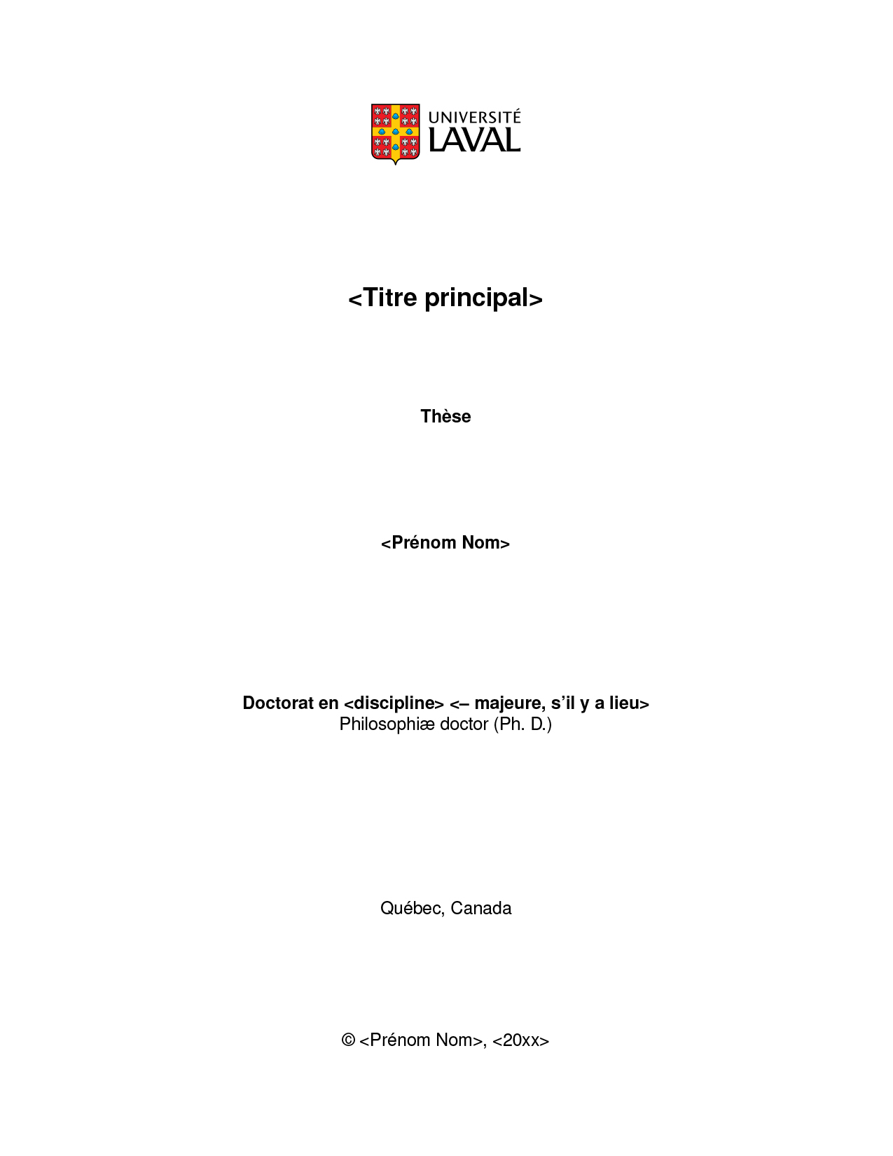 thesis ulaval