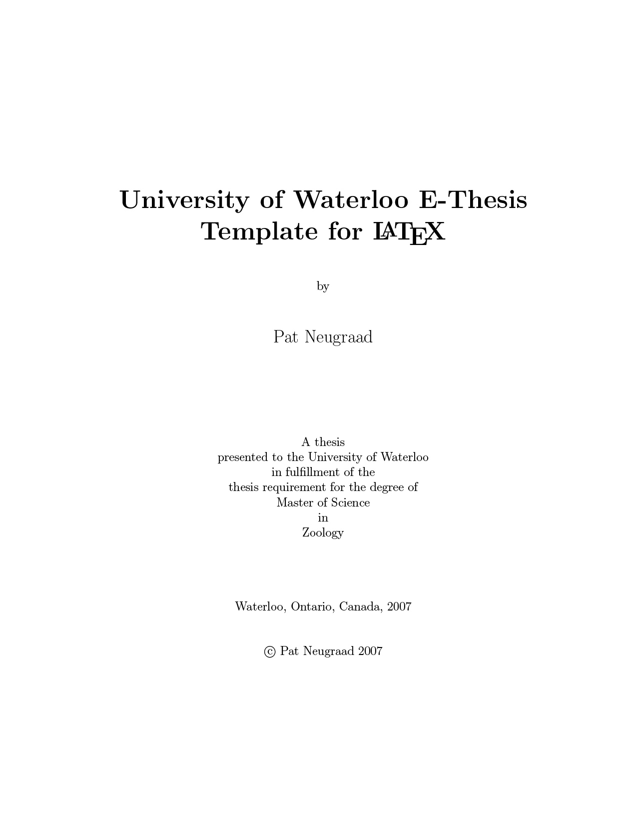 university of waterloo thesis database Thesis based master's student at uw i have been working at university of waterloo full-time (more glassdoor, inc glassdoor.